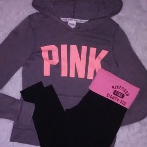 PINK Outfit Size Small hoodie leggings